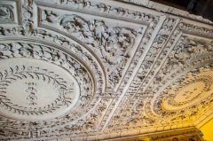 Owletts, The staircase hall plasterwork ceiling