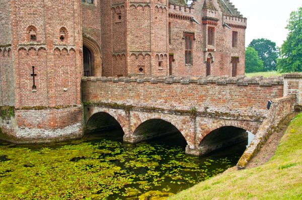 Oxburgh Hall photo, The bridge across the moat