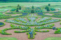 Formal gardens at Oxburgh Hall
