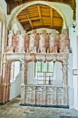 Terracotta tombs in the Bedingfield CHapel