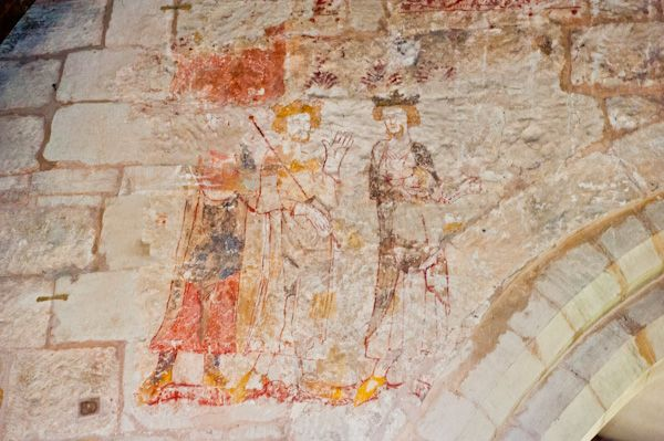 Packwood, St Giles Church photo, 14th century wall painting