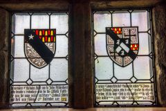 Padley Chapel and Manor Gatehouse, Fitzherbert memorial window in the chapel