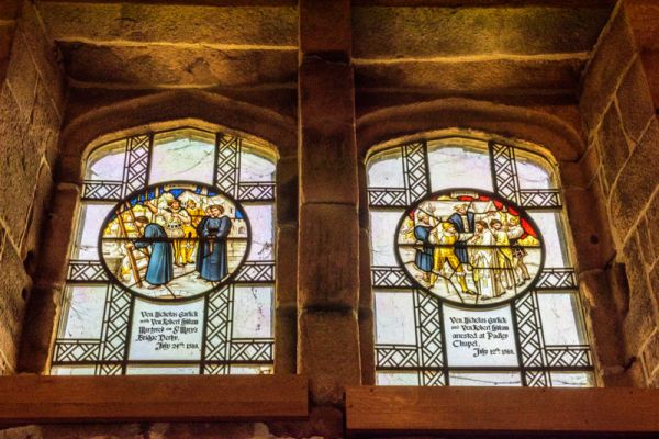 Padley Chapel and Manor Gatehouse photo, Padley Martyrs memorial window