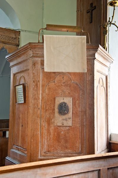 Parham, St Peter's Church photo, The pulpit