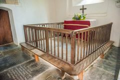 Parracombe, St Petrock's Church, 18th century altar rails