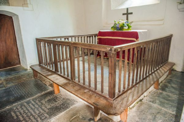 Parracombe, St Petrock's Church photo, 18th century altar rails