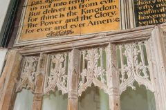 Parracombe, St Petrock's Church, Detail of the 15th century rood screen