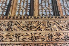 Carving detail on the rood screen