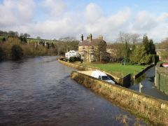 The River Nidd in flood (c) David Rogers