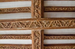 Carved oak beams