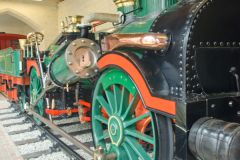 Historic locomotive exhibit