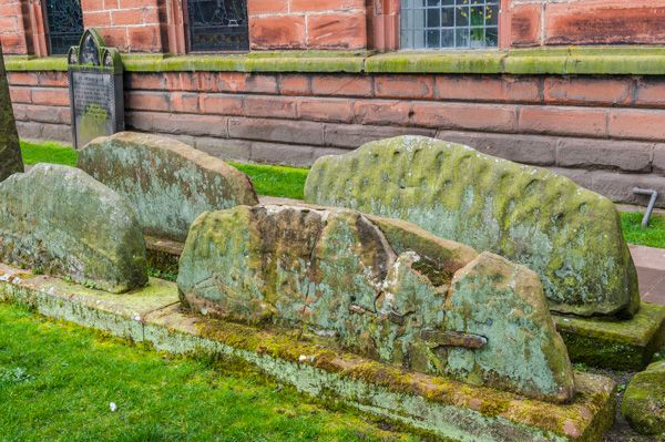 Penrith photo, Hogback tombs, Penrith church