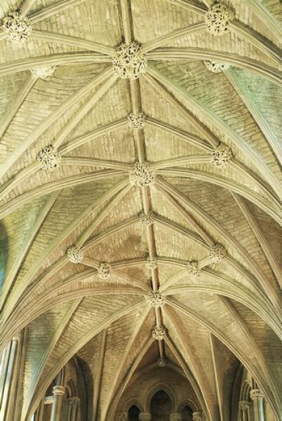 Pershore Abbey photo, Lierne vaulting detail