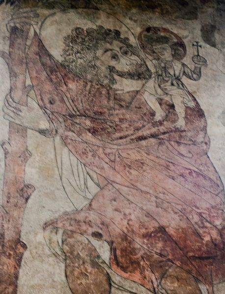 Pickering Church photo, Wall painting - St Christopher