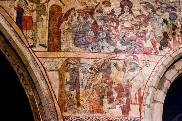 Pickering Church photo, Wall Painting - St Catherine