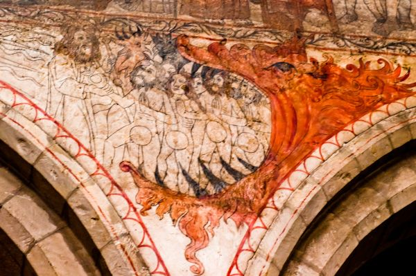 Pickering Church photo, Wall painting - Descent into Hell