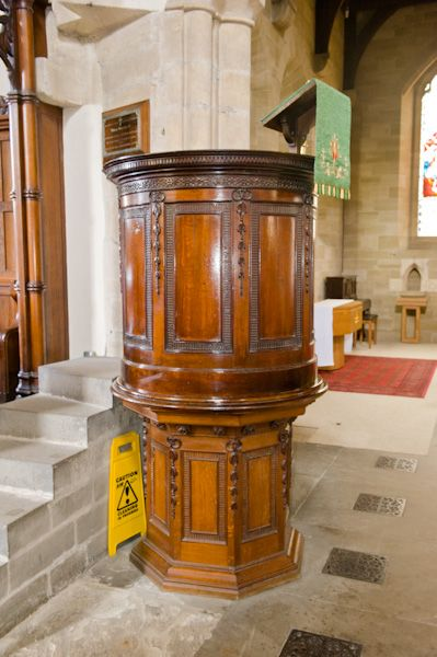 Pickering Church photo, 18th century pulpit