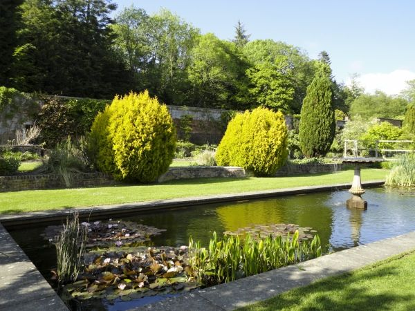 Picton Castle photo, The walled garden at Picton Castle