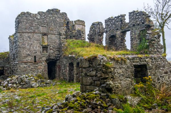 Pitsligo Castle photo, Ruins of the residential block and tower