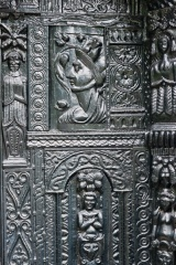 Carved exterior panel