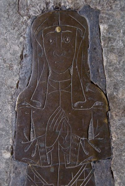 Pluckley, St Nicholas photo, Medieval brass