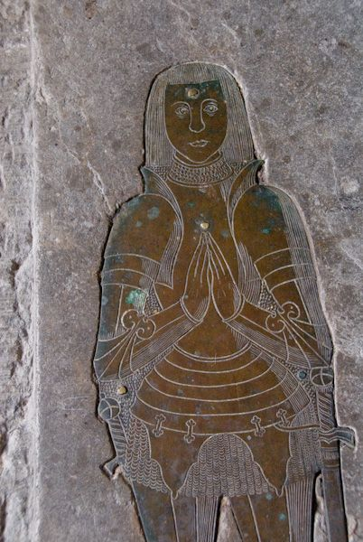 Pluckley photo, Medieval brass