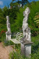 Classical statues in the garden