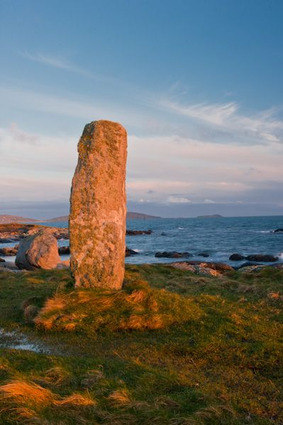 Pollachar Standing Stone photo, The standing stone at sunset
