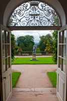Looking out of the Orangery