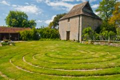 Dovecote and turf maze