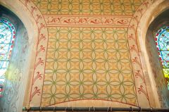 Victorian stenciling in the chancel
