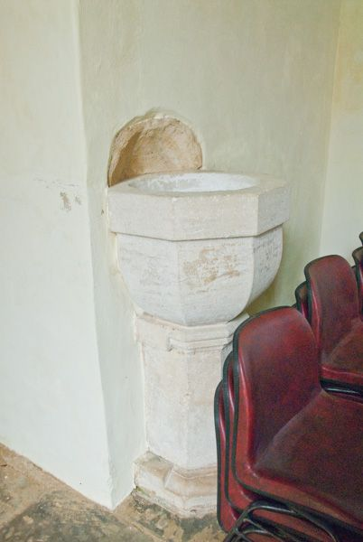 Preston Deanery Church photo, 18th century font
