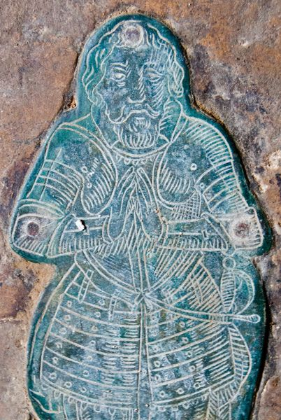 Preston Deanery Church photo, Brass of Sir Clement Edmonds (d. 1622)
