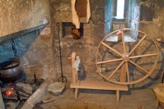 The hearth and spinning wheel
