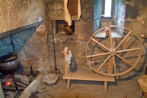 Preston Tower photo, The hearth and spinning wheel