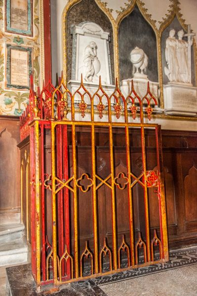 Preston on Stour, St Mary's Church photo, The painted iron chancel gates