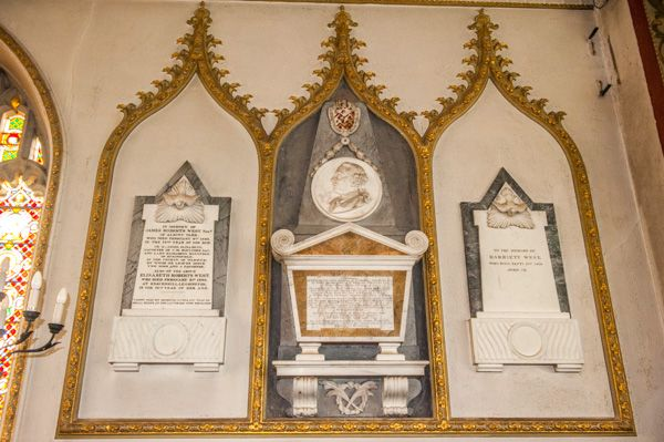 Preston on Stour, St Mary's Church photo, West family memorials, south chancel
