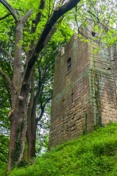 Prudhoe Castle photo, The east tower from the moat