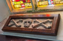 The Blagdon skull and crossed bones panel