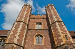 Tudor gatehouse towers