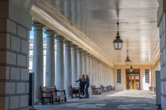 Queens House, The colonnade passage