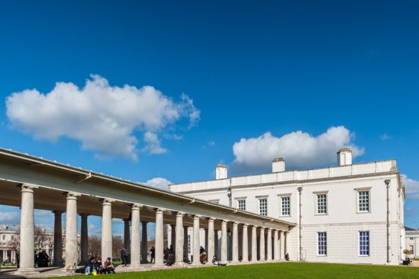 Queens House photo, The colonnade passage from the north