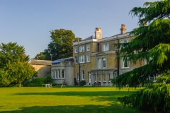 The rear facade of Quex House