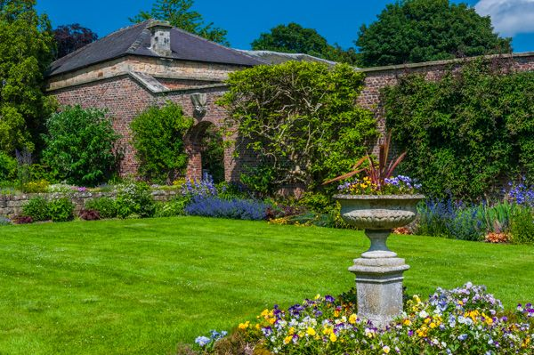 Raby Castle photo, The walled garden