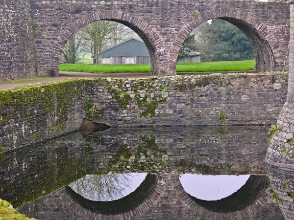 Raglan Castle  photo, The moat bridge