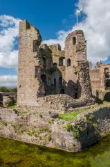 Raglan Castle , The moated Great Tower