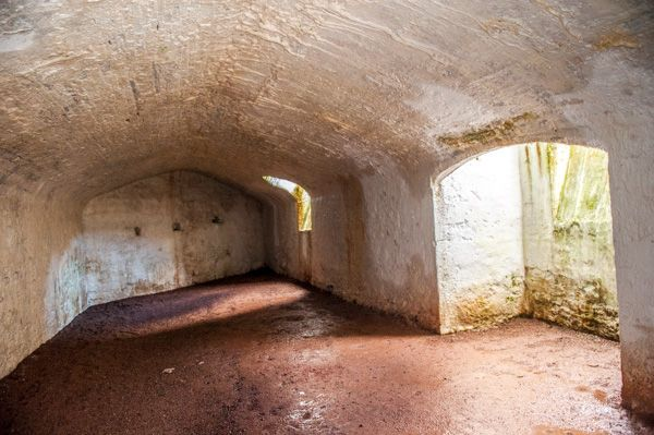 Raglan Castle  photo, The cellars