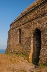 Rame Head Chapel, The north wall and entrance
