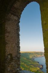 Rame Head Chapel, The east window view