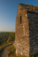Rame Head Chapel, West wall and window